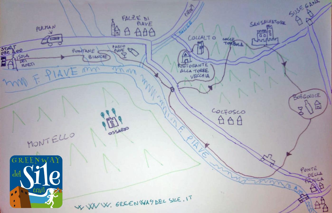 Greenway del Sile Trail edizione del Centenario mappa